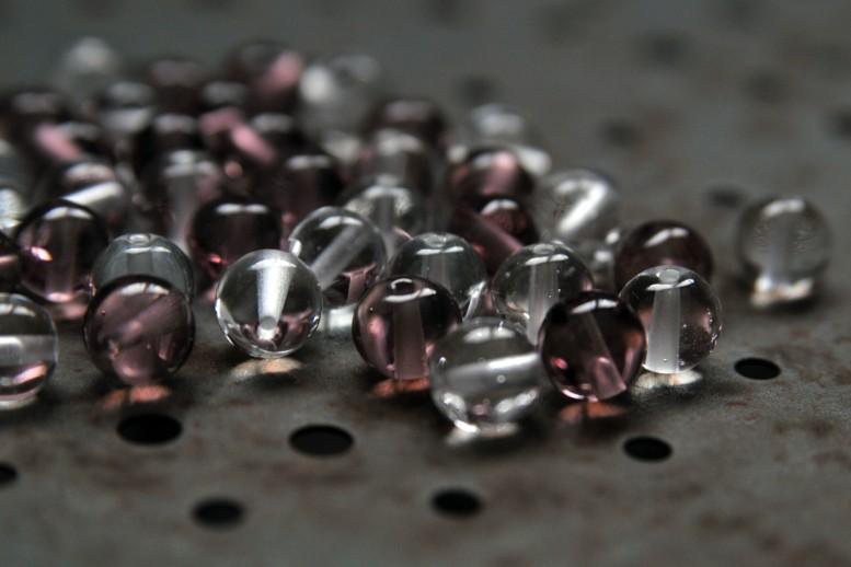 Perles de verre transparente effettre