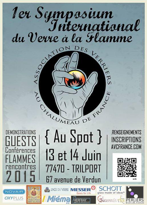 1er symposium international du verre a la flamme AVCF association des verriers au chalumeau de france first international glass event in france 2015