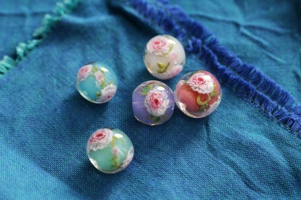 Perles de verre marie antoinette boudoir tianon macarons collier perles made in france