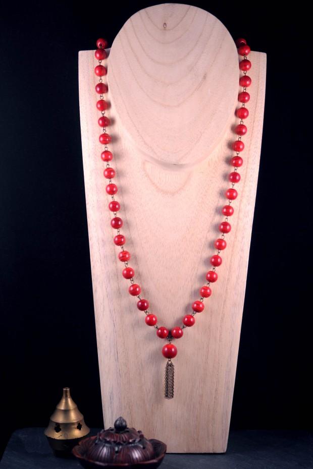 collier meditation neha crea by nathalie crottaz mal 54 perles finitions laiton bien être
