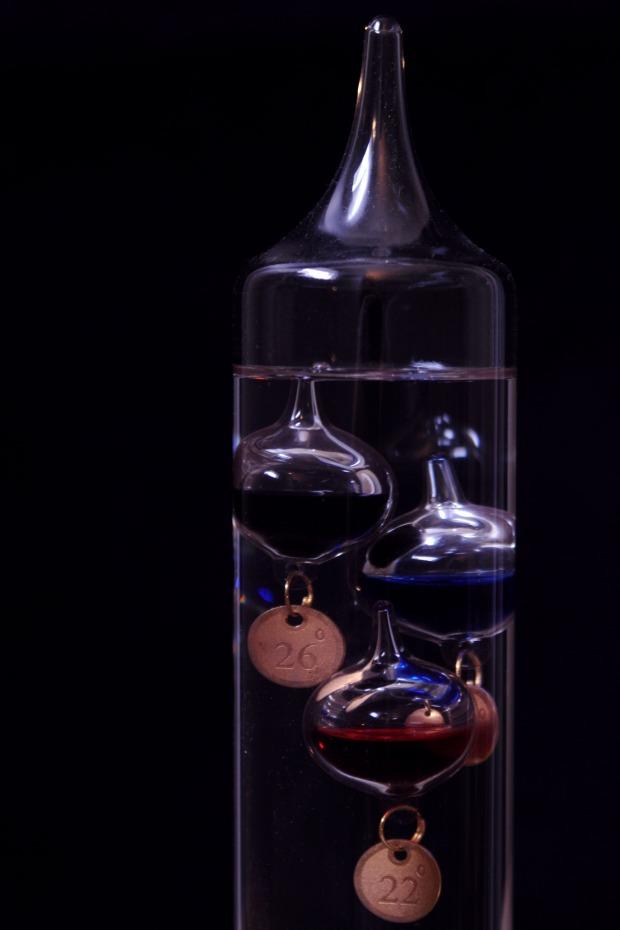 Objets de décoration en verre sciences physique ampoules de verre scellées principe de flotabilité