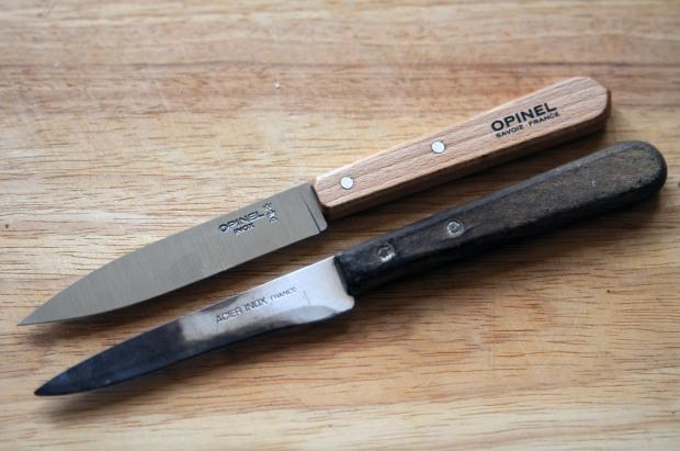 couteau d'office versus couteau de mamie opinel savoie france acier inox