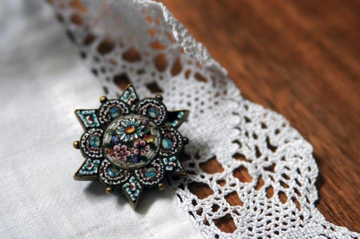 Micro mosaique bijoux anciens brocante anthiquité